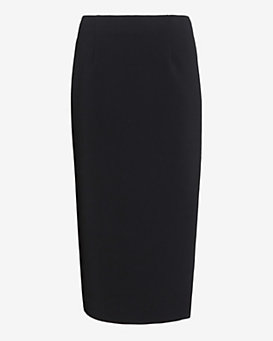 Exclusive for Intermix Slit Double Face Crepe Skirt