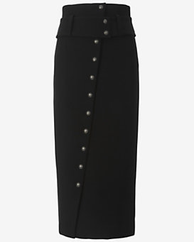 Exclusive for Intermix Button Front Asymmetric Skirt