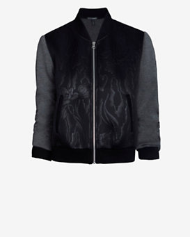 Exclusive for Intermix Floral Embossed Neoprene Bomber Jacket