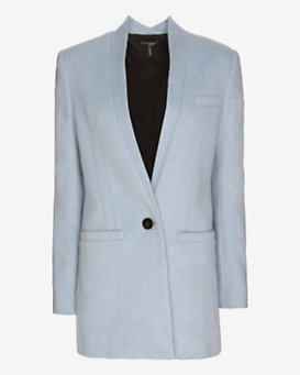 Exclusive for Intermix Boyfriend Car Coat: Dusty Blue