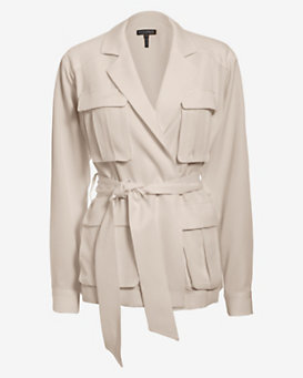 Exclusive for Intermix Safari Wrap Jacket