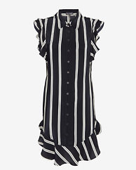 Exclusive For Intermix Flutter Stripe Blouse Dress