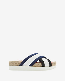 Flamingos Malabar Fabric Stripe Slide Sandal