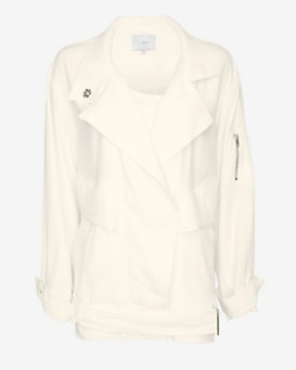 IRO Dixia Oversized Jacket: White