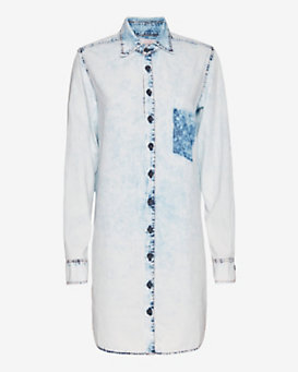 Basic Terrain EXCLUSIVE Acid Wash Shirt Dress