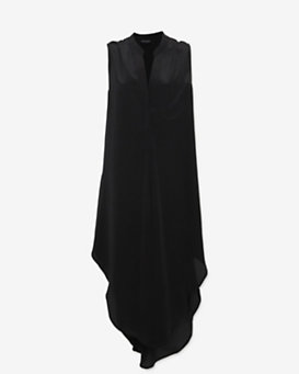 OTTE Sleeveless Shirt Dress: Black