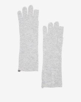 Exclusive for Intermix Cashmere Gloves: Grey