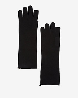 Exclusive for Intermix Cashmere Gloves: Black