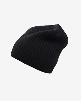 Exclusive for Intermix Cashmere Beanie: Black