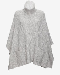 Exclusive for Intermix Basket Weave Turtleneck Poncho