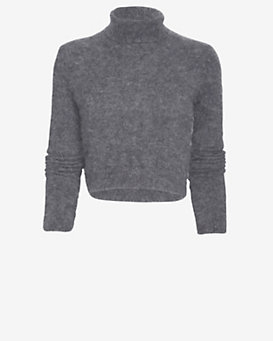 Exclusive for Intermix Turtleneck Knit Crop Top