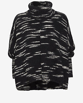 Exclusive for Intermix Marled Turtleneck Poncho