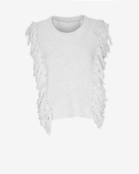 Exclusive for Intermix Sleeveless Fringe Sweater