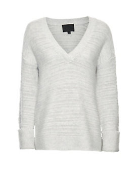 Exclusive for Intermix Textural Knit V Neck