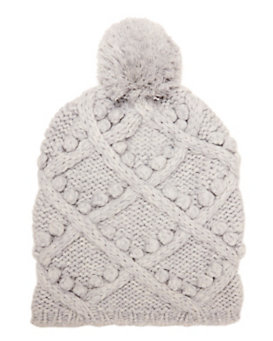 Exclusive for Intermix Popcorn Cable Knit Beanie