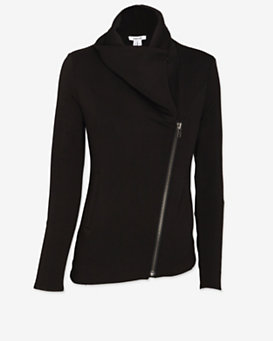 Helmut Lang Zip Up Sweats Jacket: Black