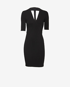 Helmut Lang EXCLUSIVE Gala Knit Dress: Black