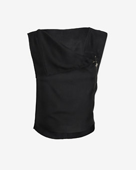 Helmut Lang Zipper Detail Sleeveless Top
