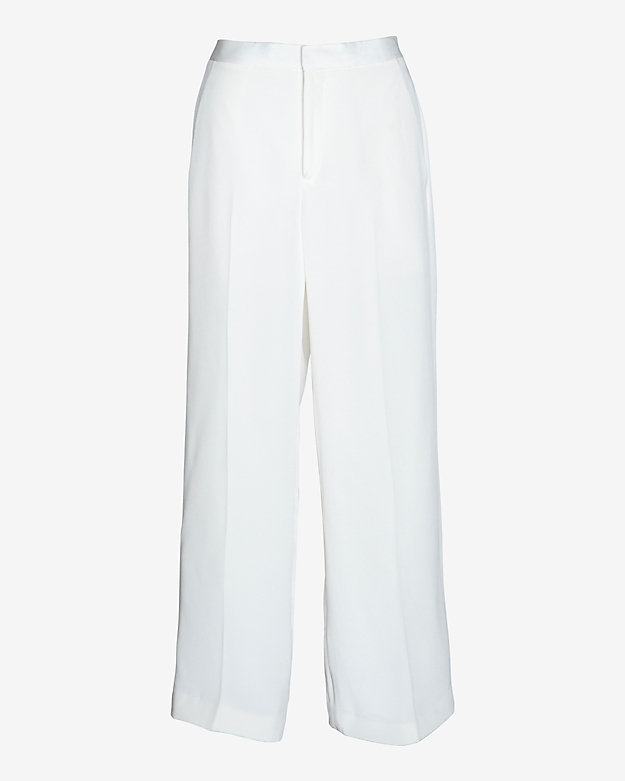 Theyskens' Theory Wide Leg Silk Pant: White