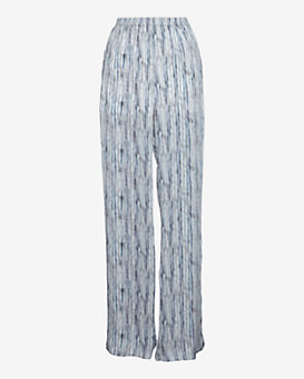 Theyskens' Theory Prim Wide Leg Silk Pants