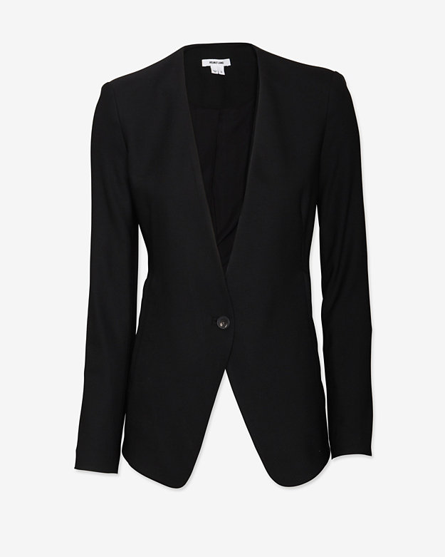 Helmut Lang Wool Suiting Blazer: Black