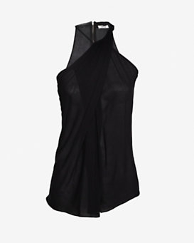 Helmut Lang Sleeveless Twist Neck Top