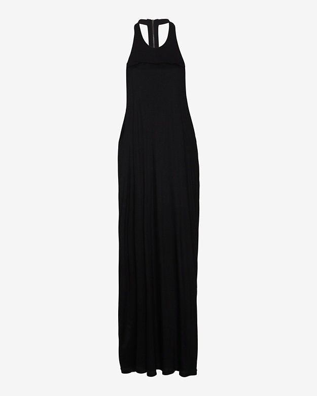 Helmut Lang Ion Jersey Open Back Maxi Dress
