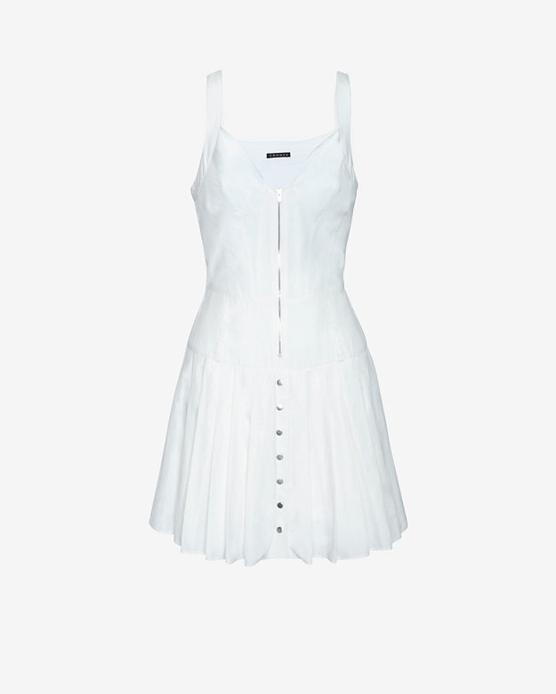 Theory Pleated Tank Flare Dress