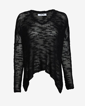 Helmut Lang Irregular Silk Knit Sweater