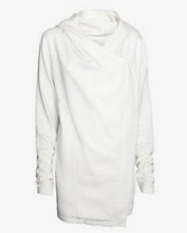 Helmut Lang Villous Hooded Zip Up Jacket