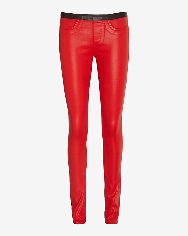 Helmut Lang High Gloss Vian Legging: Red