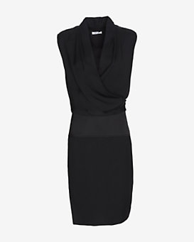 Helmut Lang Drape Mid-Length Dress