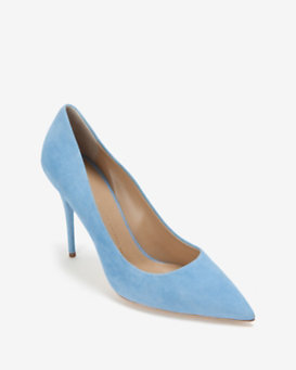Giuseppe Zanotti Suede Pointy Toe Pump: Powder Blue