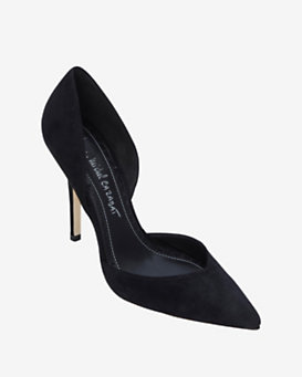 Jean-Michel Cazabat EXCLUSIVE Ebba D'Orsay Suede Pump: Black