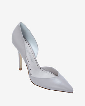 Jean-Michel Cazabat EXCLUSIVE Ebba D'Orsay Leather Pump: Grey