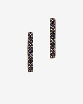 Adina Reyter Pave Black Diamond Bar Earring