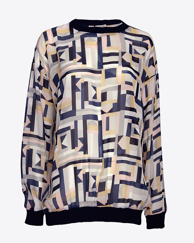 sale 		 	 	 	 	 	 	 	 	 	emma-cook-printed-chiffon-sweatshirt by emma-cook