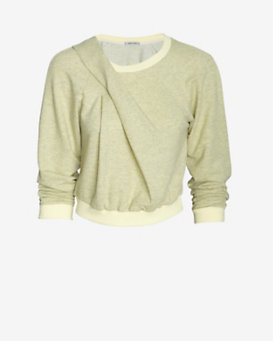 Emma Cook Marled Sweatshirt: Lemon
