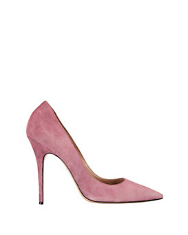 Jean-Michel Cazabat Elle Pointy Toe Suede Pump: Rose