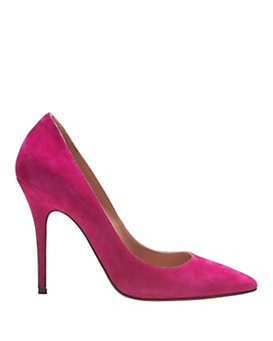 Jean-Michel Cazabat EXCLUSIVE Elle Pointy Toe Suede Pump: Magenta