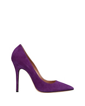 Jean-Michel Cazabat Elle Pointy Toe Suede Pump: Purple