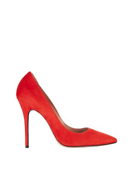 Jean-Michel Cazabat Elle Pointy Toe Suede Pump: Red