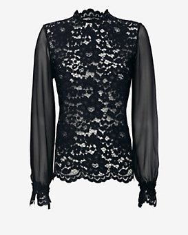 Alexis Silk Sleeve Lace Blouse