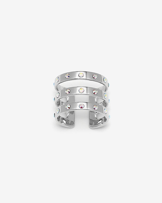 Maria Francesca Pepe Crystal Triple Band Ring