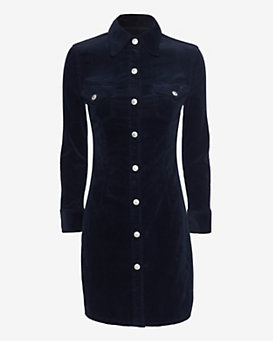 Alexa Chung for AG Pixie Corduroy Shirt Dress