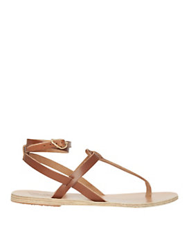 Ancient Greek Sandals Wrap Around Ankle Strap Flat Sandals