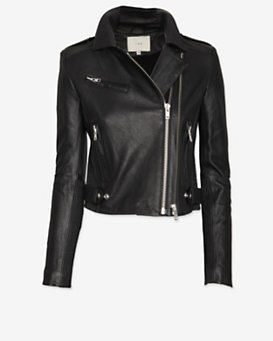 IRO Evana Double Zip Leather Jacket