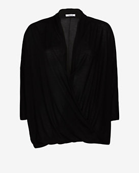 Helmut Lang Drape Cross Front Top