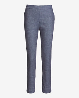Theory Thaniel Chambray Crop Pant