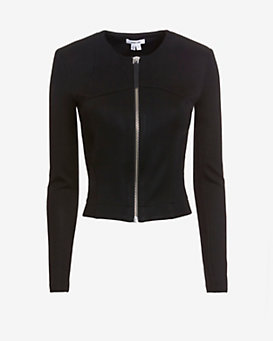 Helmut Lang Lateral Draped Fitted Crop Jacket